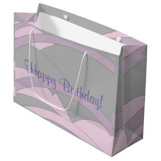 Joyeux anniversaire élégant grand sac cadeau