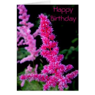 Joyeux anniversaire - fleurs roses carte de vœux