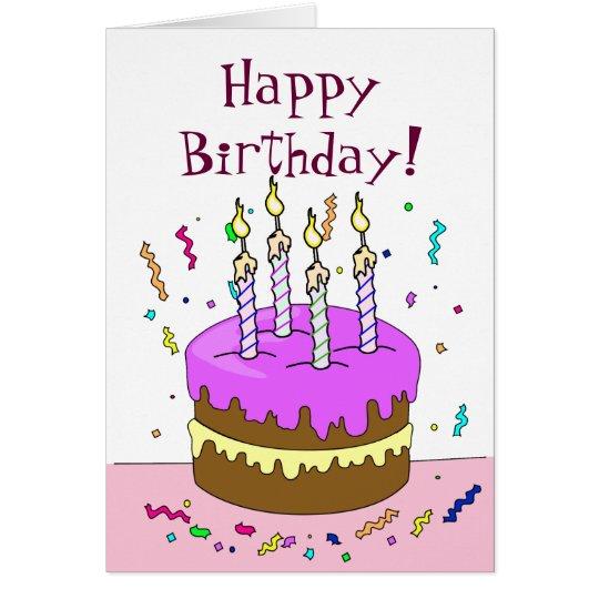 joyeux anniversaire gteau 4 ans carte de vux