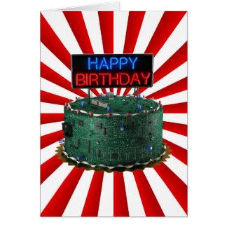 Joyeux anniversaire, geek carte de vœux