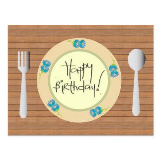 Joyeux anniversaire humoristique de plat cartes postales