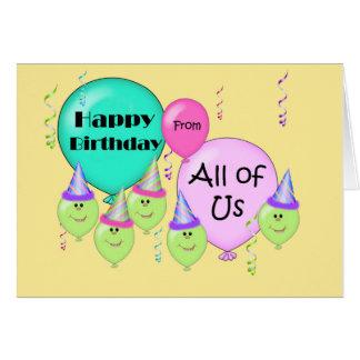Joyeux anniversaire humoristique de tous les nous cartes de vœux