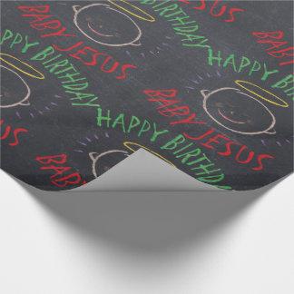 Joyeux anniversaire Jésus - tableau de couleur de Papiers Cadeaux