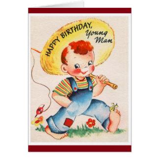 Joyeux anniversaire - jeune pêcheur cartes