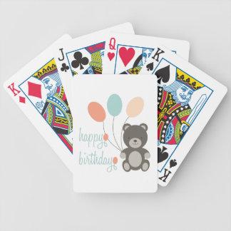 Joyeux anniversaire jeux de cartes bicyle