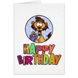 Joyeux anniversaire - Lion Carte De Vœux