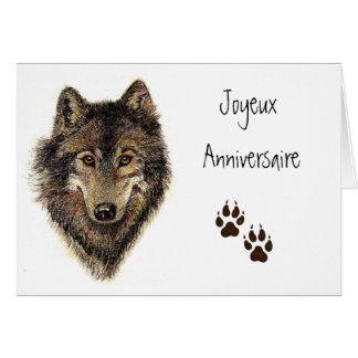 Joyeux Anniversaire, loup, loups, animal Carte De Vœux