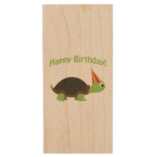 Joyeux anniversaire mignon ! Tortue Clé USB 2.0 En Bois