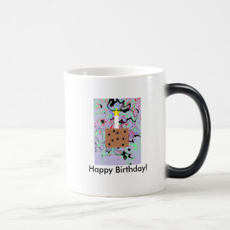 Joyeux anniversaire mug magic