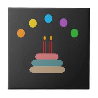 Joyeux anniversaire petit carreau carré
