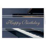 Joyeux anniversaire - piano cartes de vœux