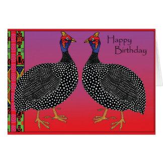 Joyeux anniversaire - pintade carte de vœux