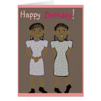 Joyeux anniversaire pour la carte de jumeaux