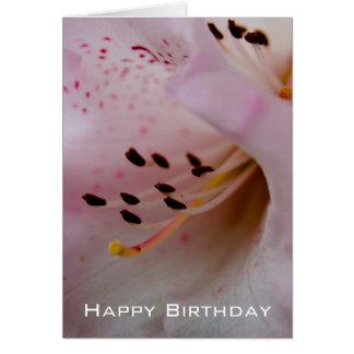 Joyeux anniversaire rose du rhododendron   carte de vœux