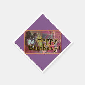 Joyeux anniversaire ! serviette jetable