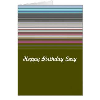 Joyeux anniversaire sexy barré cartes