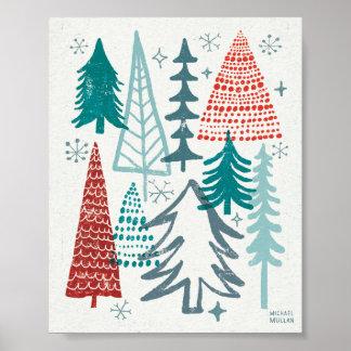 Joyeux arbres de Christmastime Posters