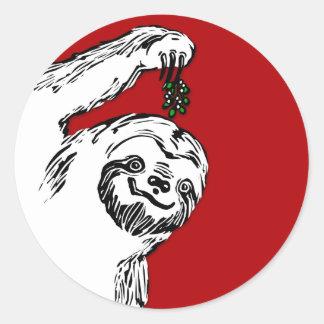 Joyeux autocollants de Slothmas pour vos cartes de