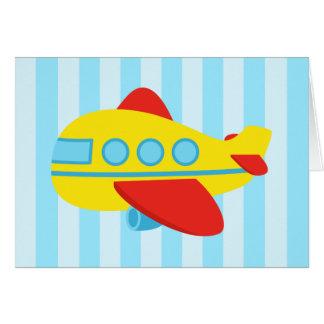 Joyeux avion d'anniversaire, mignon et coloré carte de vœux