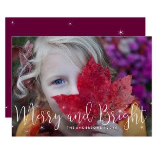 Joyeux carte photo de vacances de lueur