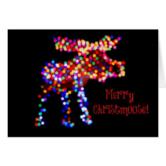 Joyeux Christmoose ! Carte de vacances