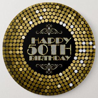 Joyeux cinquantième anniversaire de parties badge