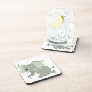 Joyeux dessous de verre mignons d'éléphant de sous-bock