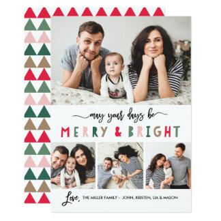Joyeux et lumineux blanc de carte de vacances de 4