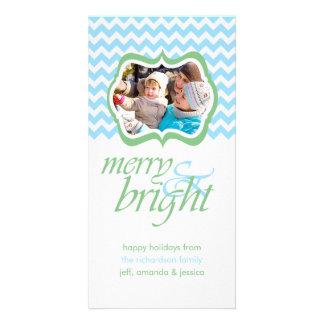 Joyeux et lumineux cartes photos de vacances de ve cartes de vœux avec photo