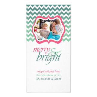 Joyeux et lumineux cartes photos roses de vacances modèle pour photocarte
