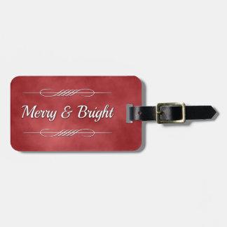 Joyeux et lumineux étiquette à bagage