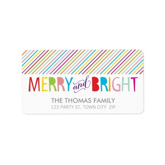 Joyeux et lumineux type coloré audacieux étiquettes d'adresse