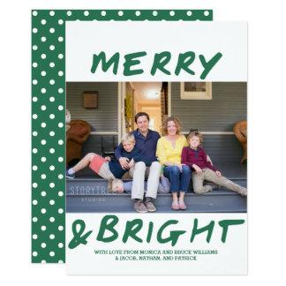 Joyeux et lumineux vert à la mode du carte photo |