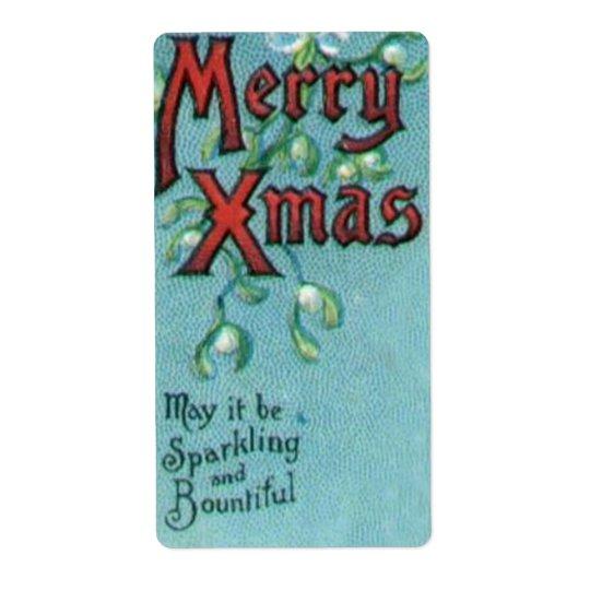 Joyeux étiquettes de Noël
