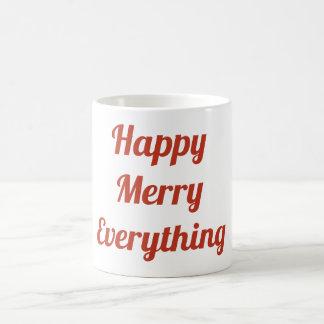 Joyeux heureux tout tasse