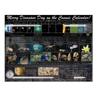 Joyeux jour de dinosaure ! Carte postale (de Noël)
