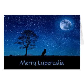 Joyeux Lupercalia (loup) Carte De Vœux