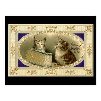 Joyeux Noël à vous noir vintage de carte postale