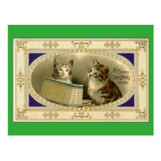 Joyeux Noël à vous vert vintage de carte postale