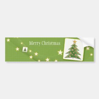 Joyeux Noël - arbre de Noël - adhésif pour pare-ch Autocollant Pour Voiture