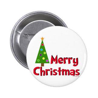 Joyeux Noël, arbre moderne Badge