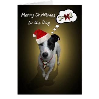 Joyeux Noël au chien Carte De Vœux