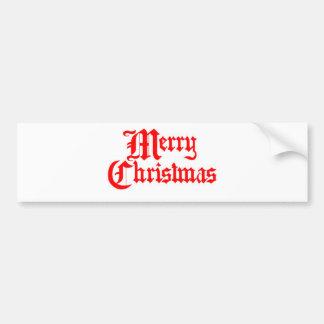 Joyeux-Noël Autocollant De Voiture