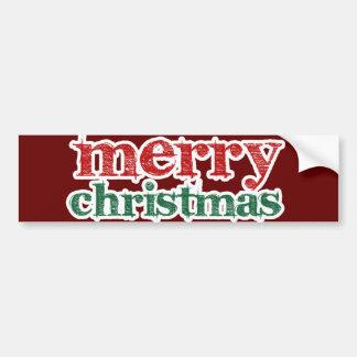 Joyeux Noël Autocollant De Voiture