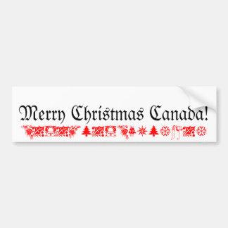 Joyeux Noël Canada Autocollant De Voiture
