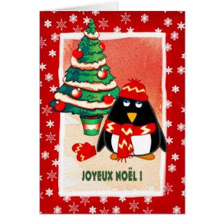 Joyeux Noël. Carte de Noël française