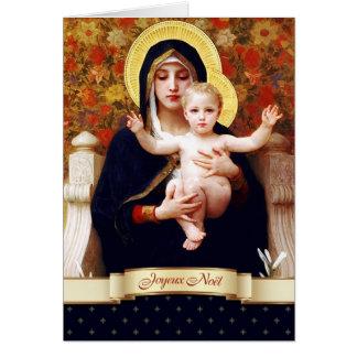 Joyeux Noël. Carte de Noël française de beaux-arts