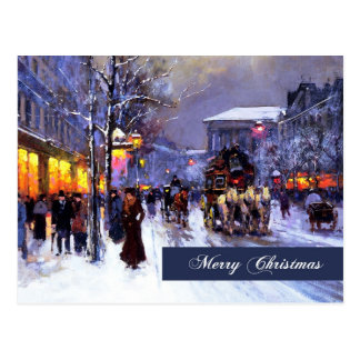 Joyeux Noël. Carte postale de beaux-arts