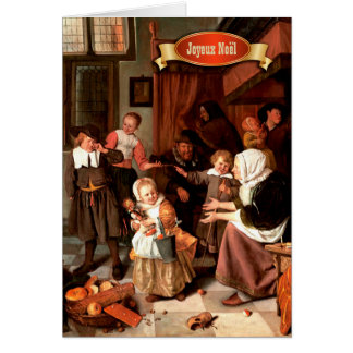 Joyeux Noël. Cartes de voeux françaises de Noël