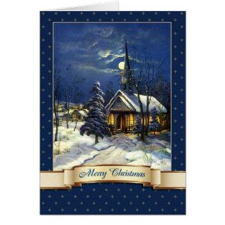 Joyeux Noël. Cartes de voeux vintages d'église
